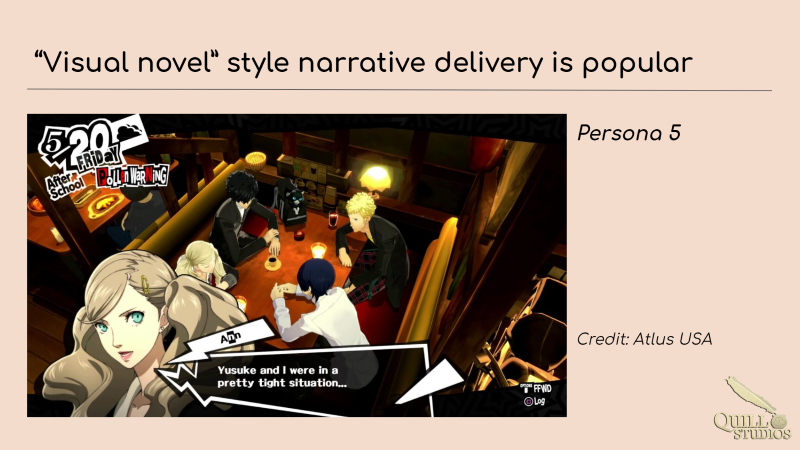 Persona 5 is a popular game with visual novel elements
