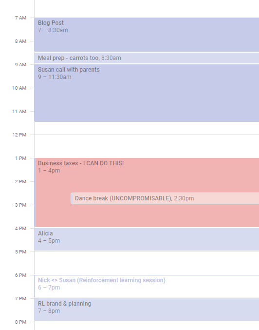 I put todo lists on Google Calendar