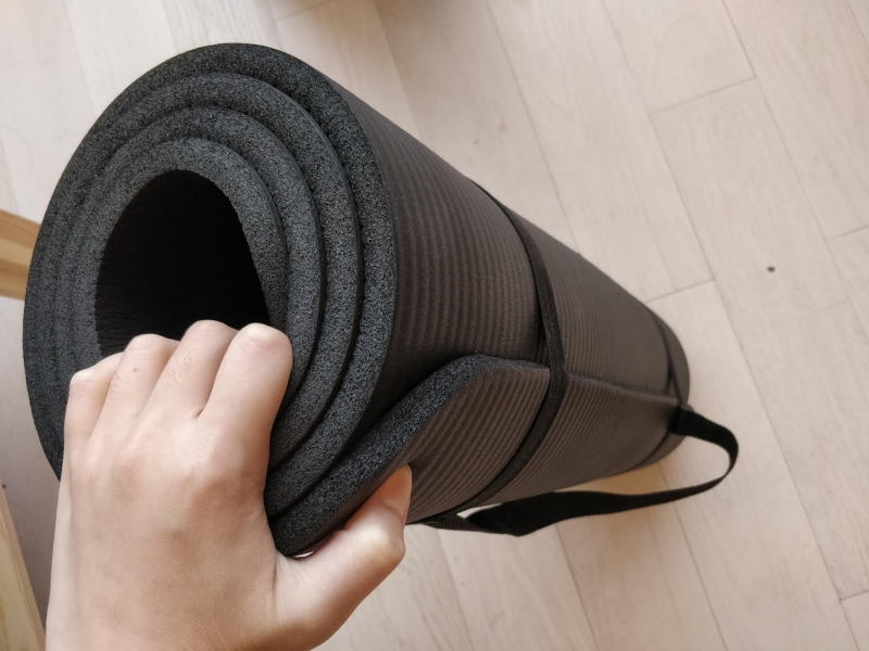 Sleeping on the floor on a yoga mat rather made back pain ago away.